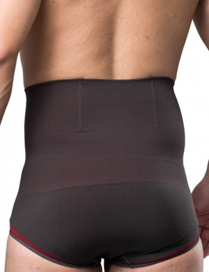 Power Slim 4 Boned Bamboo Charcoal High Rise Men Butt Enhancer Slim