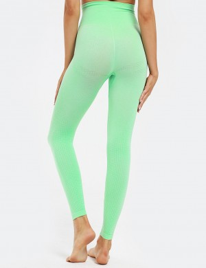 Green High Waist Lift Butt Seamless Yoga Legging Casual Look