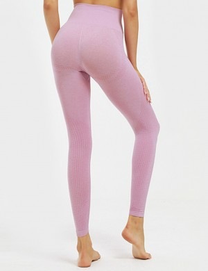 Pink Lift Butt Ankle Length Knitting Yoga Legging Sports Series