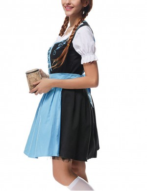 Exquisite Blue Bavaria Big Size Cosplay 3 Piece Oktoberfest Costumes For Stunner