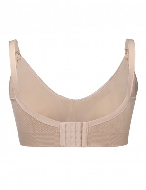 Explicitly Chosen Skin Hooks Wire-Free Padded Clip Down Nursing Bra