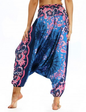 Artisan Digital Printing Waist Elastic Band Trousers For Beauty