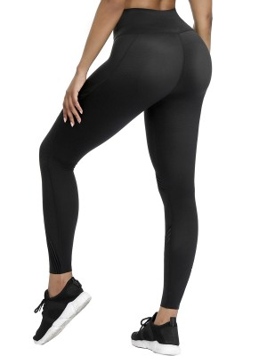 Daring Black 3D Print High Waist Yoga Legging For Traveling