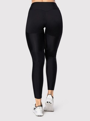 Super Black High Waist Running Leggings Full Length For Girls