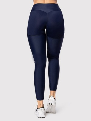 Amazing Blue Solid Color Butt Enhancer Yoga Leggings Comfort Fashion