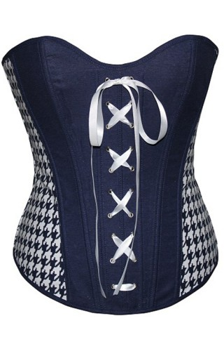 Ladies Dark Blue Overbust Corset