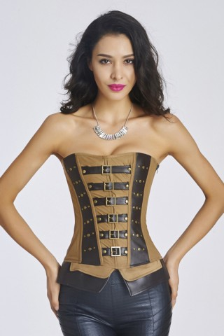 12 Plastic Boned Women Corset With zipper