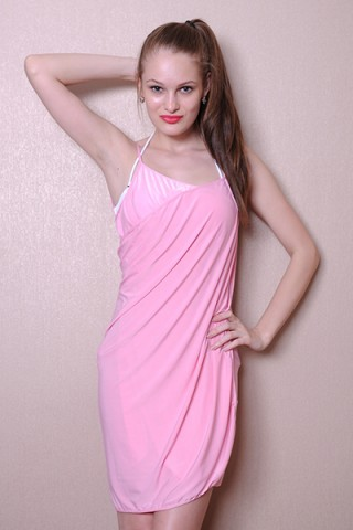 Radiant Pink Beach Swim Wrap Cover Up Dress Sleeveless