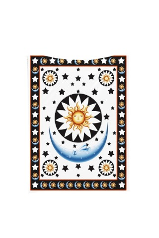 Exclusive Star Moon Printed Square Tapestry Picnic Blanket