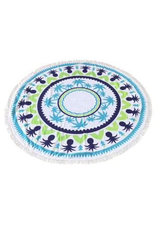 Bewitching Ocean Round Beach Blanket Towel