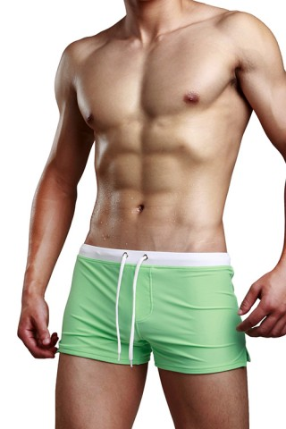 Skinny Liberty Back Pocket Green Male Underwear Briefs
