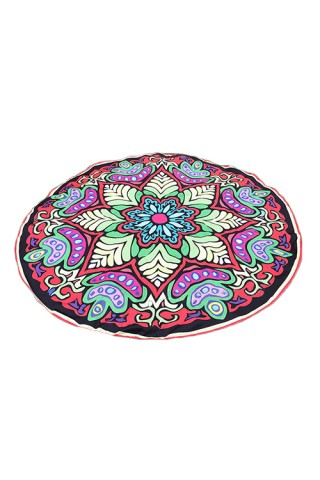 Fantasy Colorful Printed Mandala Tapestry Beach Throw