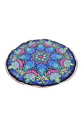 Characteristic Polyester Floral Beach Towel Round