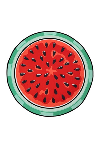 Convenient Big Watermelon Print Roundie Table Cloth