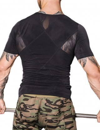 Sculpting Black Rhombic Double-Layer Male Shaper Pull Back