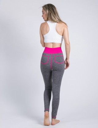 Svelte Style Pink Butt Lift Tights With Fake Pockets Exercise