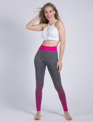 Fantasy Pink High Waisted Gradients Leggings Butt Lift