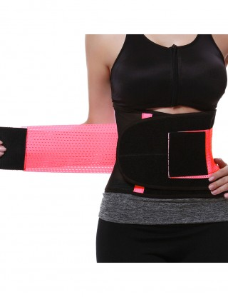 Pink Sticker Slimming Waist Trainer Belt Slim