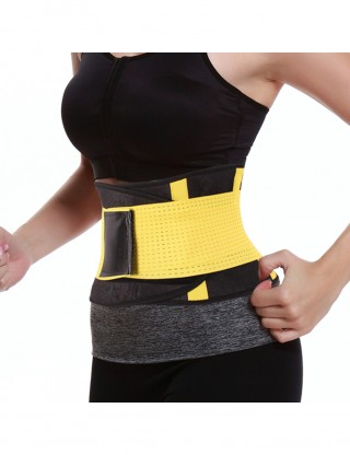Yellow Slimming Stomach Neoprene Waist Trimmer Curve Shaper