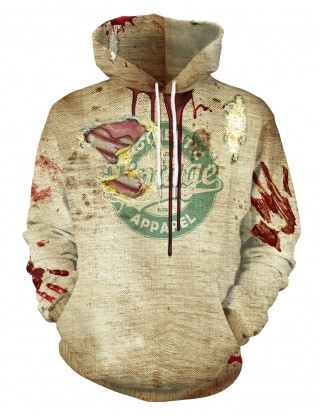 Simply Chic Blooded Organs Hooded Tops Front Pocket Street Style