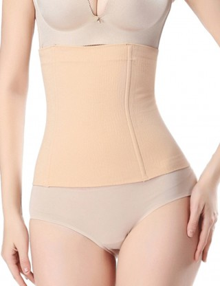 Traditional Nude Plastic Boned Waist Cincher Large Size Secret Slimming