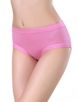 Watermelon Red Supportive Triangle Physiological Bamboo Panties