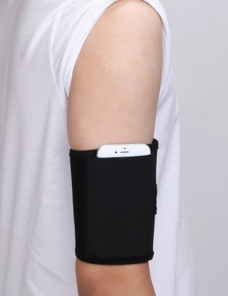 1PC Lightweight Black Neoprene Mobile Phone Arm Bag Sticker Workout Enhancer
