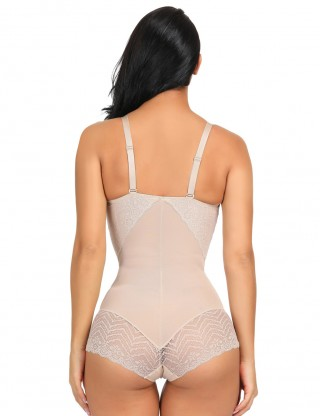 Flat Out Nude Adjustable Strap Body Shaper Lace Splice Versatile Item
