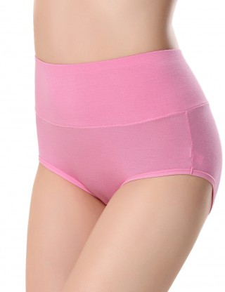 Dainty Watermelon Red High Waist Menstrual Panties Plain Wholesale Cheap