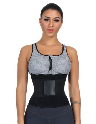 Black Plus Size SBR Lining Removable Bone Waist Belt Lose Weight