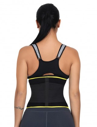 Remarkable Results Yellow Big Size Detachable Bone Back Waist Cincher Unique Fashion