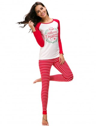Comely Red Long Sleeves Christmas Loungewear Queen Size For Cutie