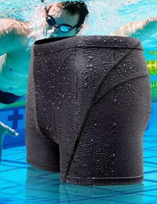 Tropics Black Large Size Male Swim Bottom Quick Dry Sale Online