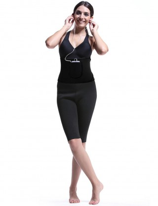 Amazing Black Front Pocket Waist Slimmer Neoprene Perfect-Fit