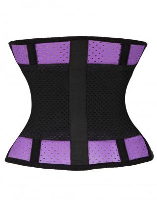 Higher Power Purple Short Rubber Belt Waist Trimmer Plus Blood Circulation Boosting