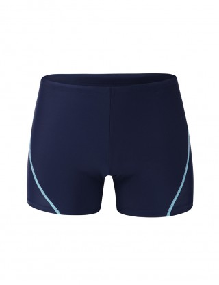 Dreaming Dark Blue High Rise Male Shorts Swimwear Square Cut Chic Trend