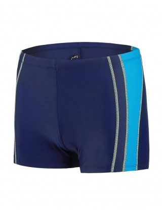Sophisticated Contrast Color Male Rapid Dry Swim Boxer Brief Fashion
