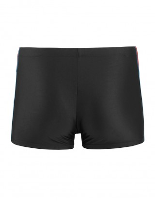 Glamorous Colorblock Swimwear Male Tight Shorts Simplicity