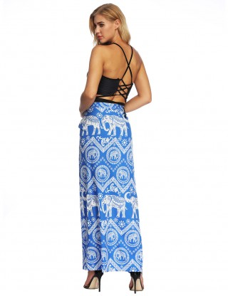 Poolside Beach Sarong Boho Skirt Floor Length Female Grace