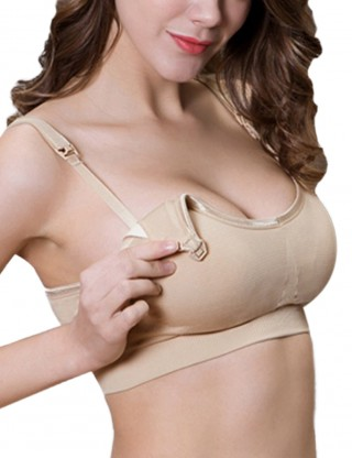 Slim Nude Clip Down Maternity Bras 3 Pcs Slim Fit Allover