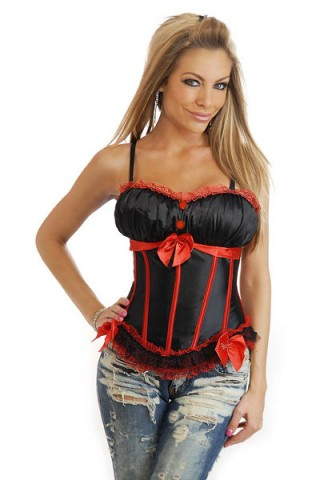 Black And Red Sexy Overbust Corset