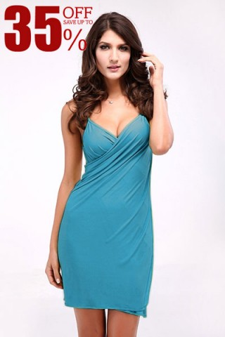 Exotic Paradise Blue Beach Summer Wear Dresses Open Back