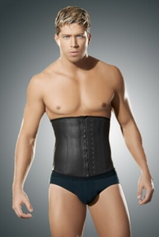 Exclusive Plus 4 Bones Latex Hook Men Waist Trainer Corset