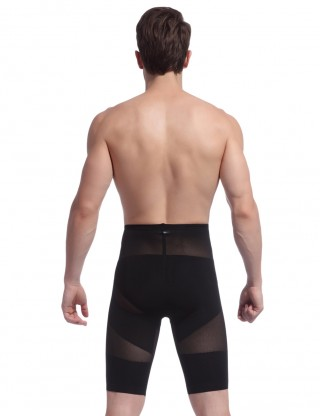 Wholesale Black Men U-Shaped High Waist Body Shaper Mesh