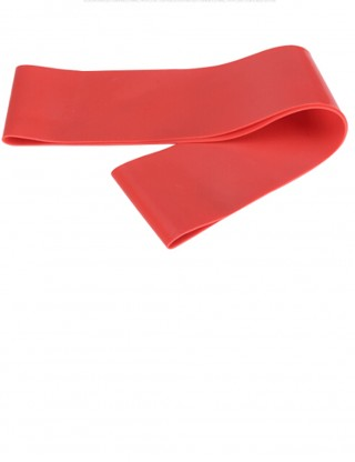 Flawless Red Latex Resistance Band Pure Color Ultimate Stretch