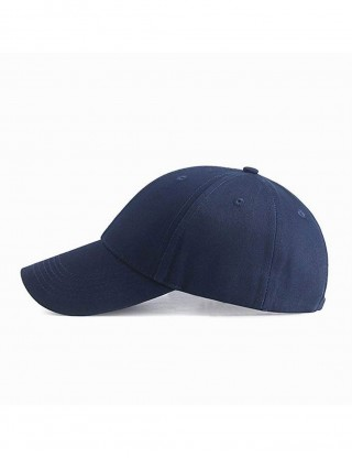 Plain Navy Blue Solid Color Weave Baseball Cap Twill Cool