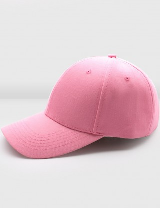 Exquisite Pink Pure Color Hole Weave Twill Baseball Cap