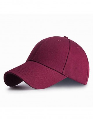 Cheap Wine Red Hole Weave Twill Baseball Cap Plain Wholesale