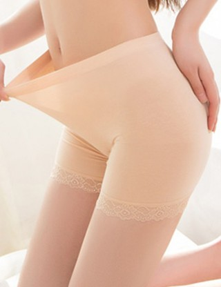 Sweet Kiss High Rise Skin Short Plain Lace Underwear Legging Super Soft