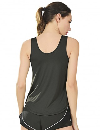 Splendid Black Cross Front Sleeveless Tank Sport Top Comfort